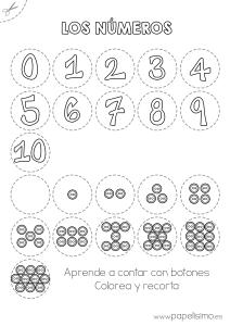 Numeros y botones aprende a contar