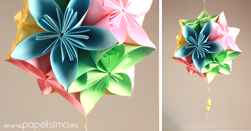 Como Hacer Esfera Colgante Flores De Papel Papelisimo