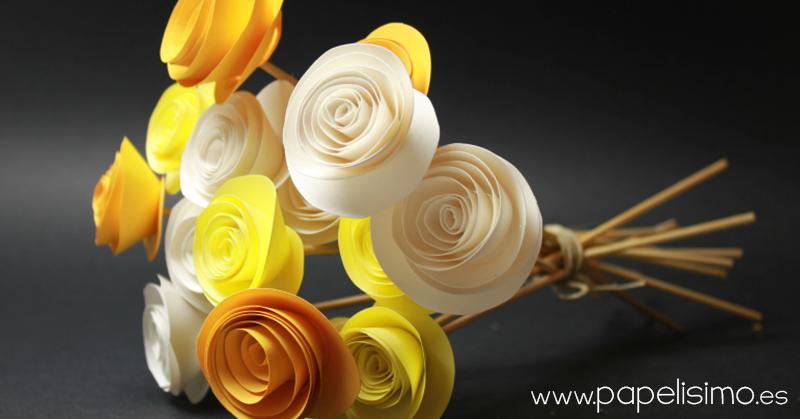 ramo de rosas papel manualidades dia de la madre