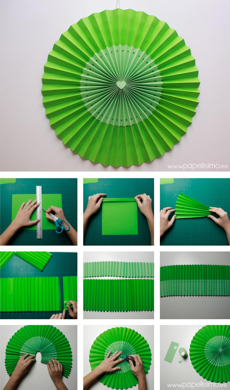 Decoracion con papel crepe paso a paso for Decoracion con cenefas de papel