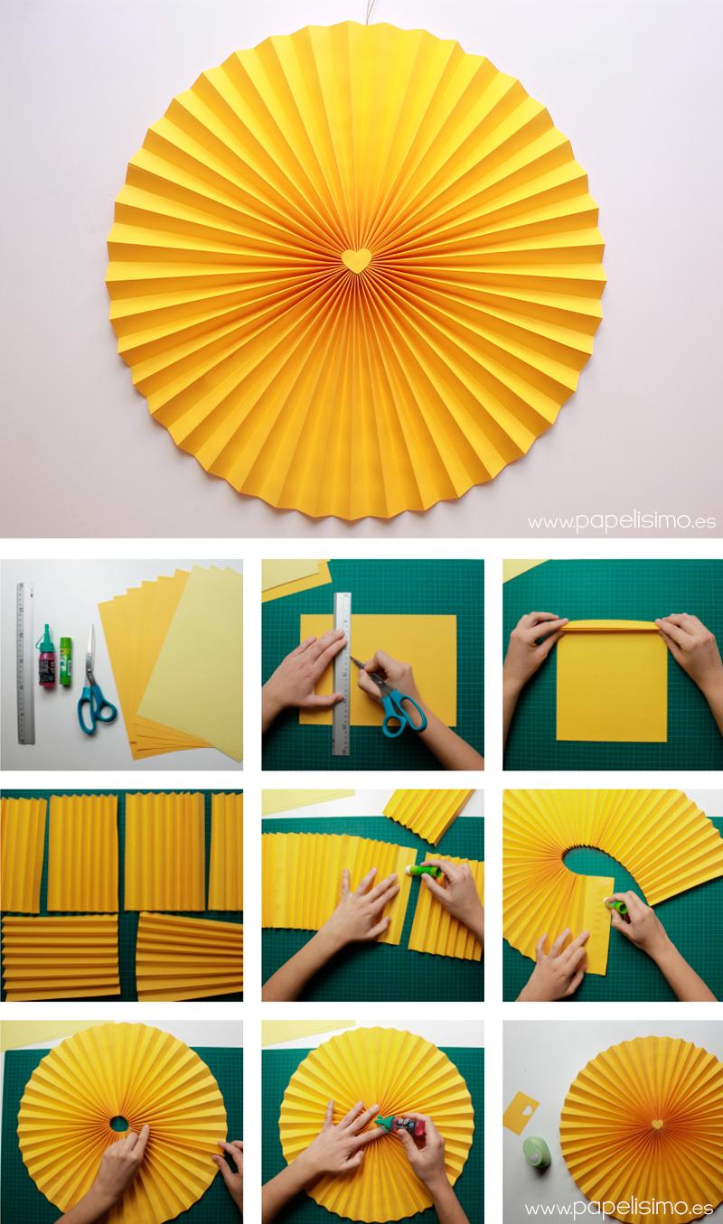 C mo hacer rosetas o medallones de papel para fiestas - Papel infantil para pared ...