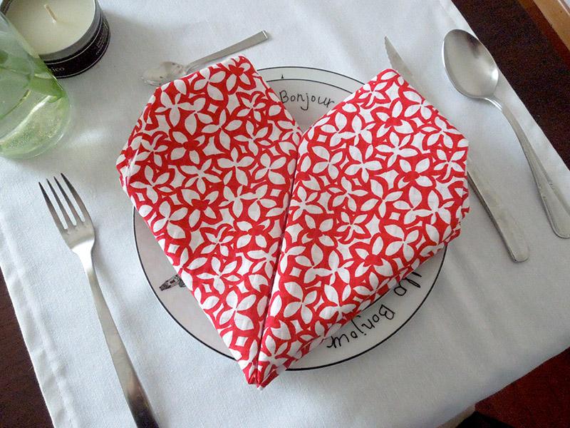 servilleta-origami-corazón
