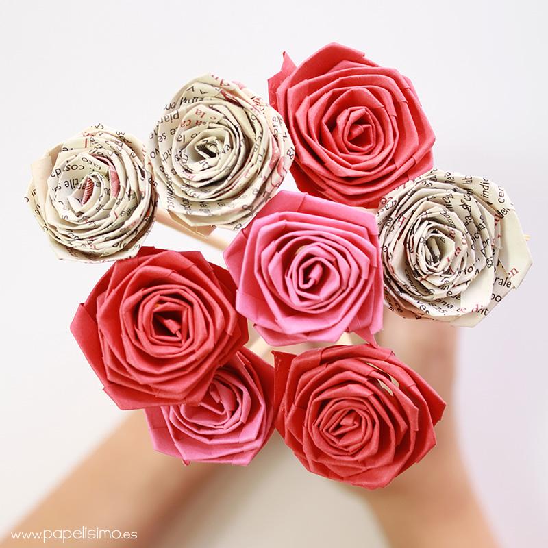 Cmo hacer rosas enrollando una tira de papel quilling PAPELISIMO