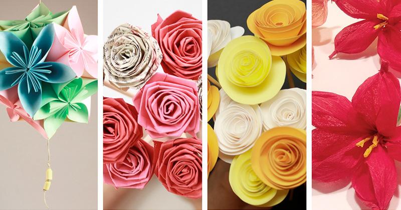 Manualidades De Flores De Papel Enam Stanito Com