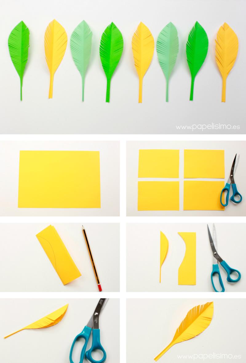 Cómo hacer plumas de papel - PAPELISIMO