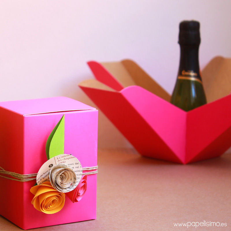 Caja de regalo boda botella Wedding bottle gift box 2