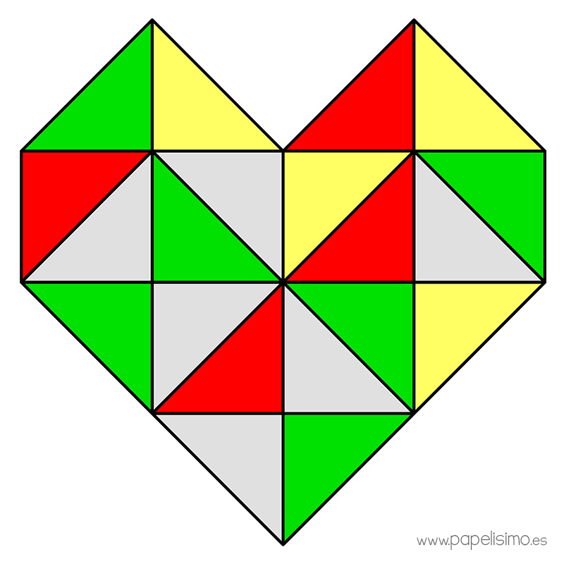 Corazon-de-triangulos-geometrico-geometric-heart-triangles-3