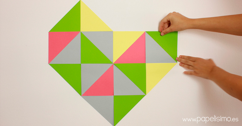 Corazon-de-triangulos-geometrico-geometric-heart-triangles-DIY