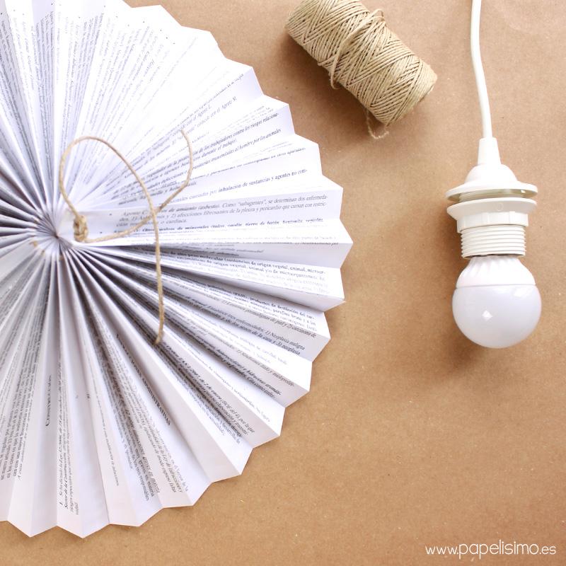 Muy f cil c mo hacer l mpara con papel y un poco de - Como decorar tulipas de lamparas ...