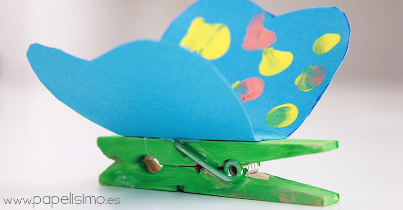 Pinzas-de-la-ropa-con-mariposas-manualidades-para-ninos