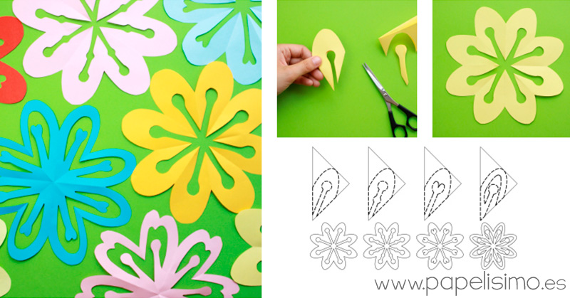 Flores-de-papel-kirigami-cut-out-paper-flower