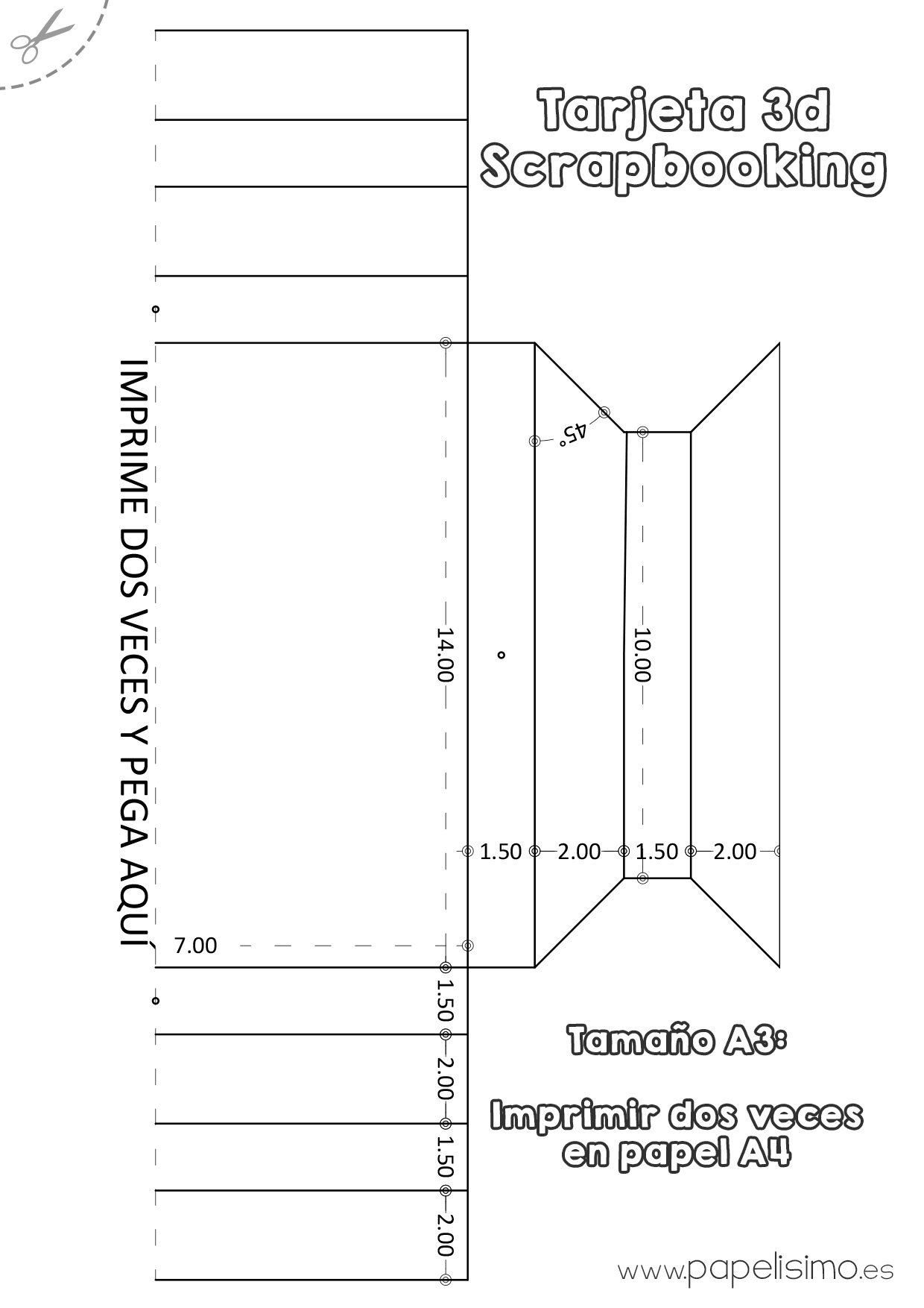 Tarjeta de cumpleaños 3D Scrapbooking - PAPELISIMO