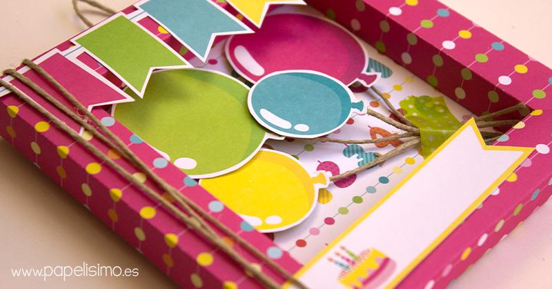 Tarjeta De Cumpleanos 3d Scrapbooking Papelisimo - Hacer-tarjetas-de-cumpleaos