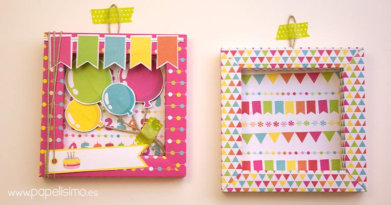 Tarjeta-de-cumpleaños-marco-de-papel-3D-Scrapbooking