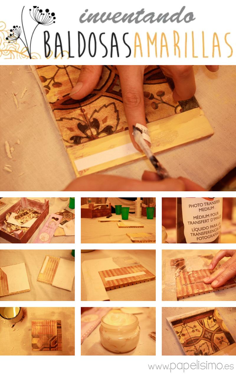 T cnica transfer paso a paso para principiantes papelisimo - Transferir fotos a madera ...
