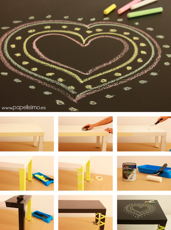 Como-pintar-mesa-ikea-melamina-pizarra-para-niños