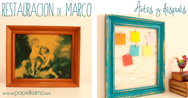 Restauracion-marco-chalk-envejecido-antes-y-despues-Before-After