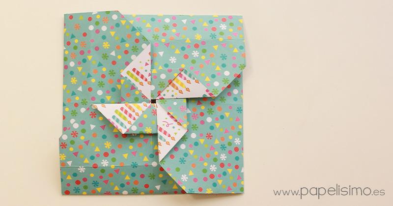 Cmo hacer tarjeta con forma de molinillo de papel PAPELISIMO