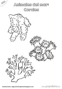 Corales-para-colorear-Animales-del-mar