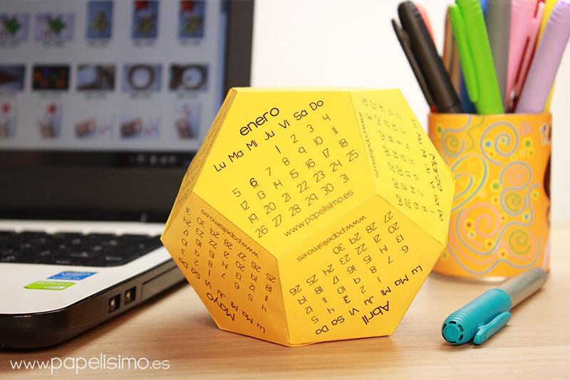 calendario-3d-poliedro-con-plantilla-imprimir