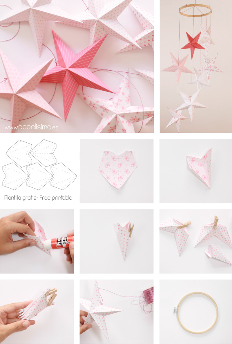1000 images about manualidades de navidad on pinterest - Estrellas de papel ...