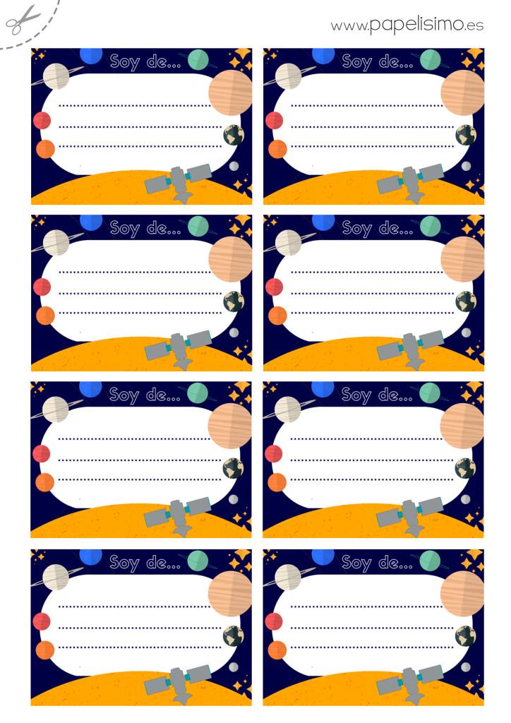 Etiquetas-libros-imprimir-Sistema-Solar-A4