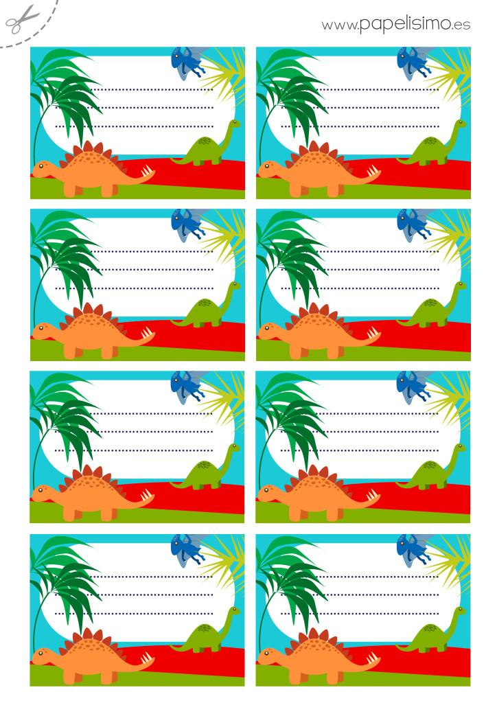 Etiquetas-libros-para-imprimir-dinosaurios-A4