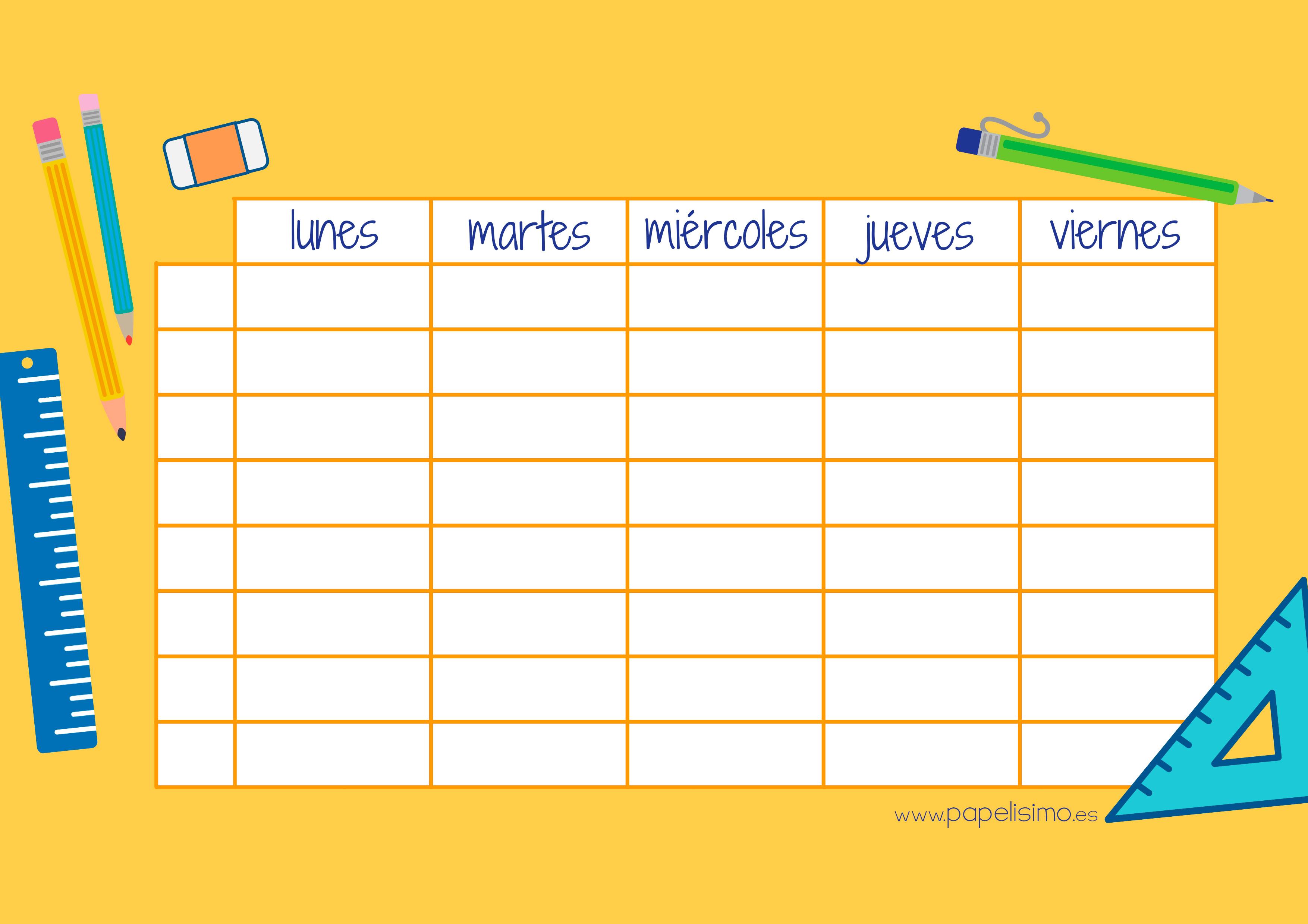 etiquetas para libros y horario para imprimir papelisimo