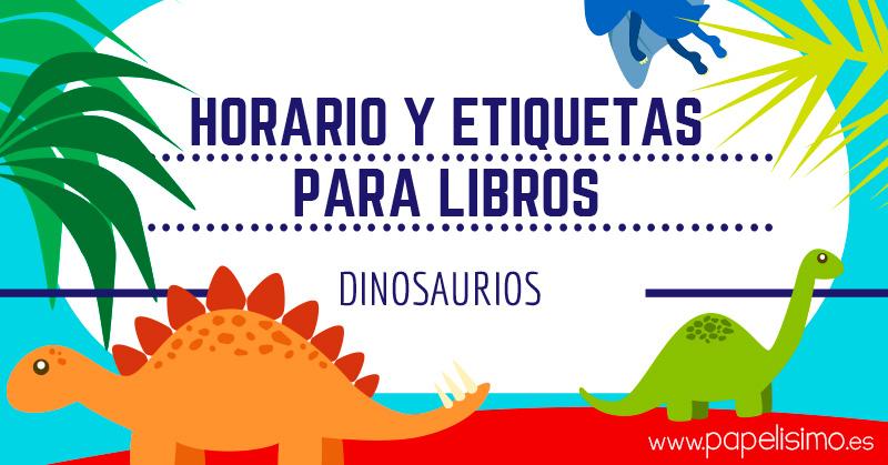 Horario-y-etiquetas-para-libros-dinosaurios