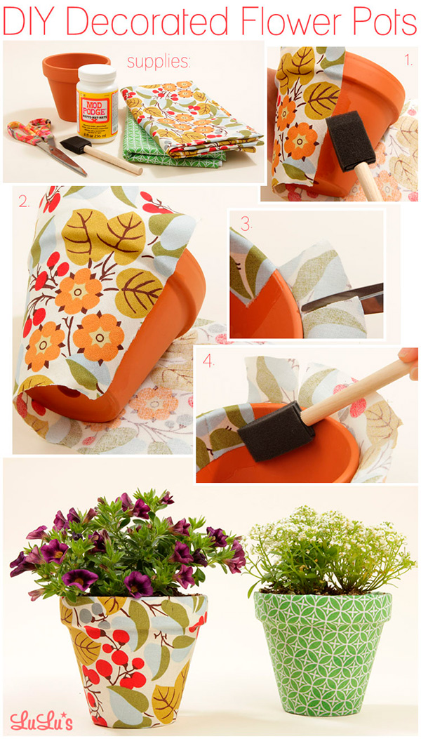 Ideas para manualidades con decoupage papelisimo for Flower pot out of waste material
