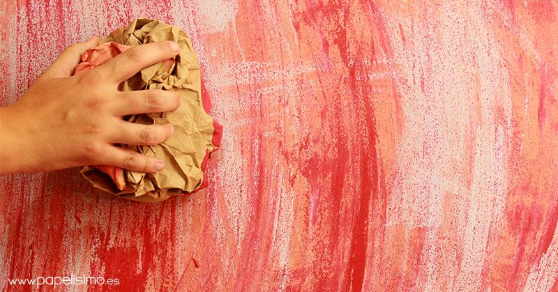 Pintar pared efecto envejecido usando papel papelisimo - Papel de pared para pintar ...