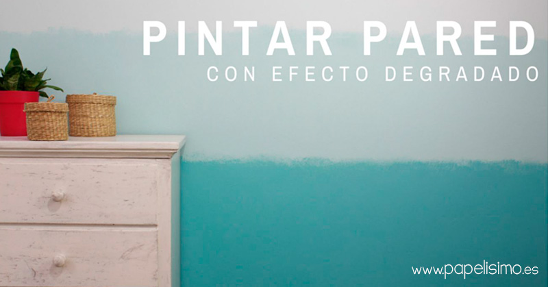 Pintar pared con degradado de colores