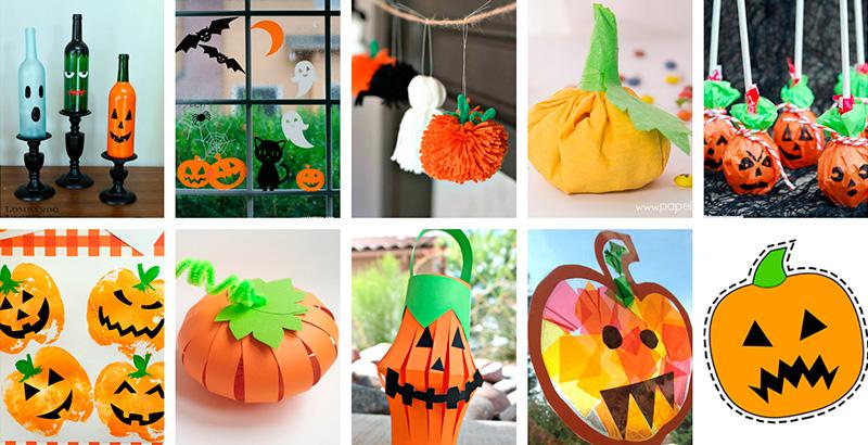 10 manualidades f ciles para halloween con calabazas - Calabazas de halloween manualidades ...