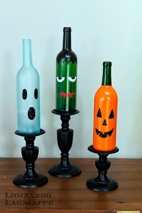 Botellas-pintadas-a-mano-para-Halloween