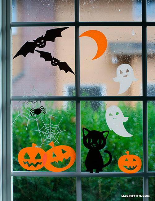 Decorar-ventanas-con-formas-de-Halloween