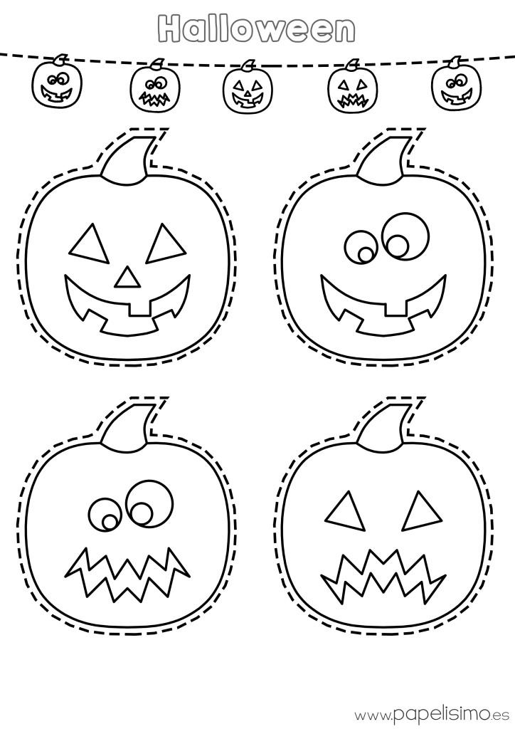 Dibujo-calabazas-colorear-y-recortar-Halloween