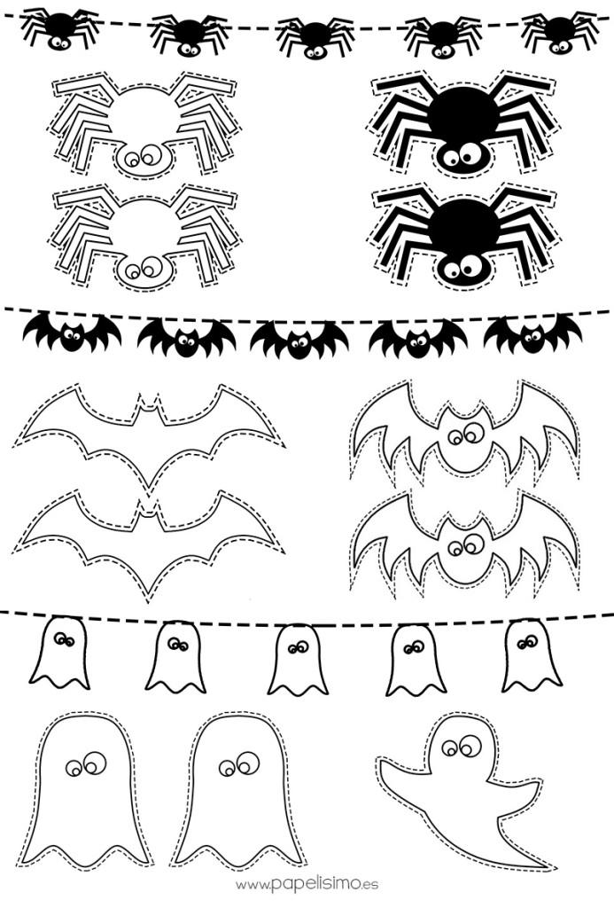 Dibujos de calabazas de halloween para recortar papelisimo - Decorar calabazas para halloween infantiles ...
