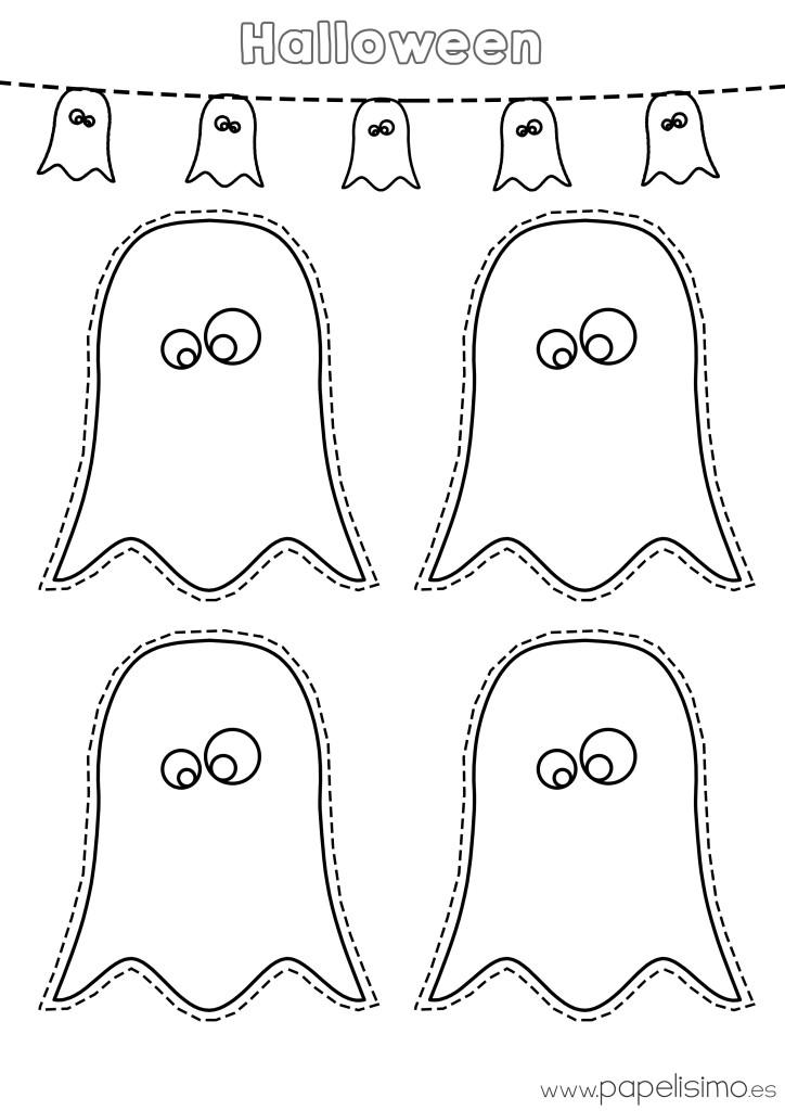 Dibujos de fantasmas Halloween para imprimir - PAPELISIMO