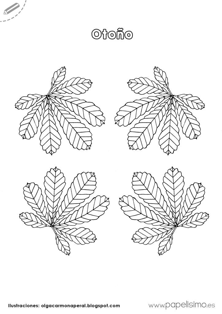 Dibujos-hojas-de-otoño-para-colorear-niños