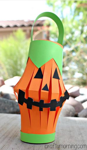 Farolillo de cartulina manualidades Halloween