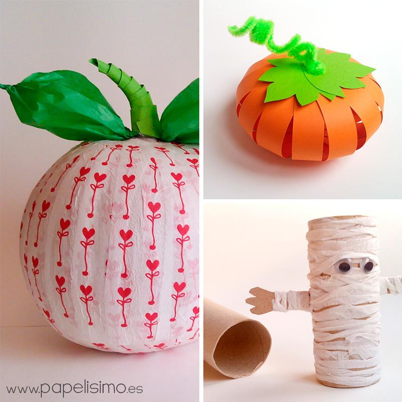 Plantillas de ara as de halloween papelisimo - Calabazas de halloween manualidades ...