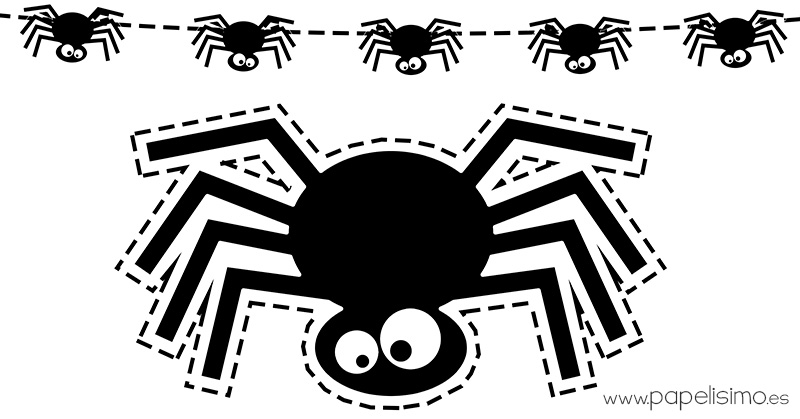 Plantillas de arañas de Halloween - PAPELISIMO
