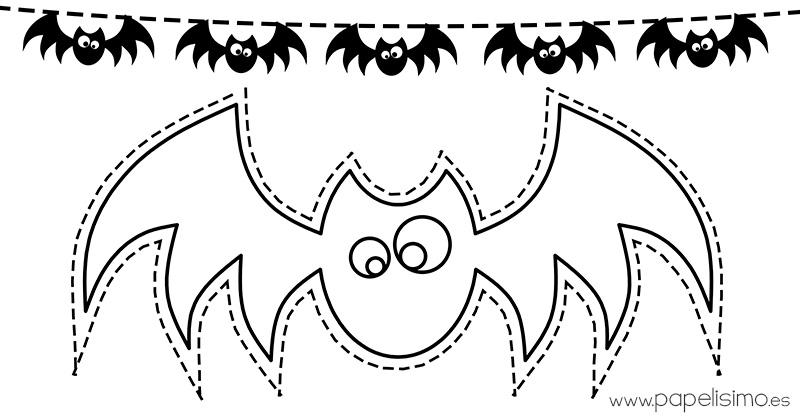Siluetas de murciélagos para colorear y recortar - PAPELISIMO