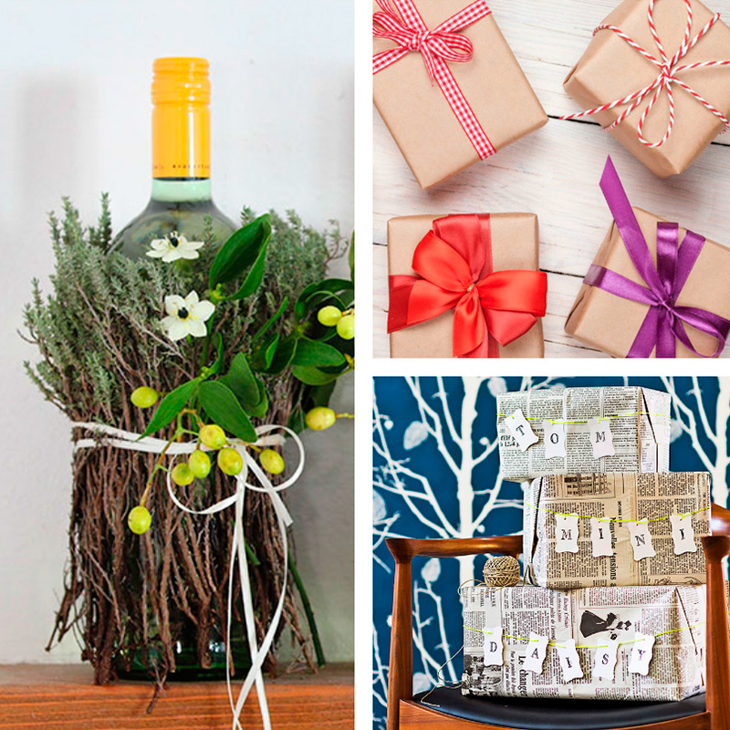 Ideas para decorar en navidad hechas a mano papelisimo for Decorar regalos