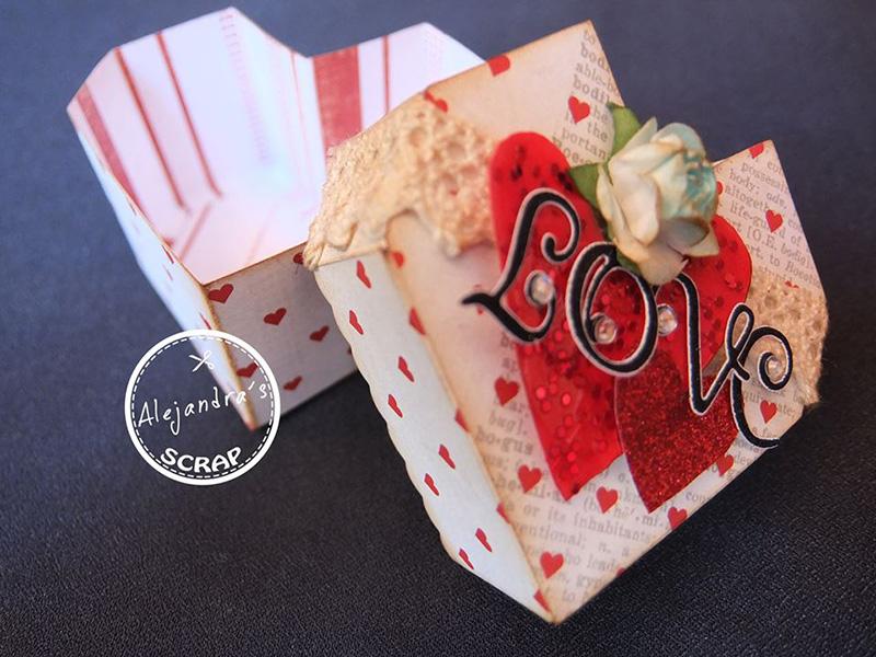 Cajas de regalo con forma de corazón hechas a mano - PAPELISIMO