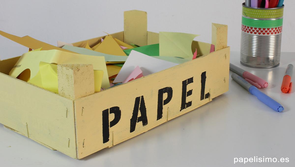 C mo decorar cajas de fruta papelisimo - Manualidades con cajas de frutas ...