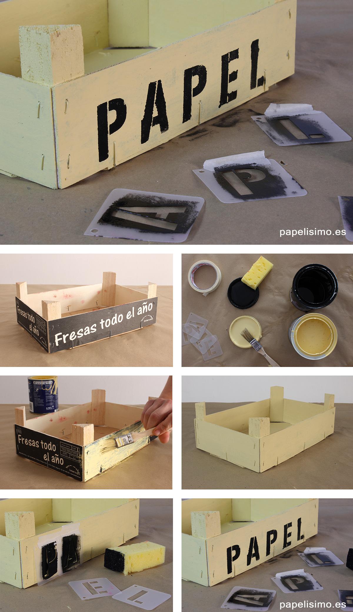 C mo decorar cajas de fruta papelisimo - Caja fruta decoracion ...