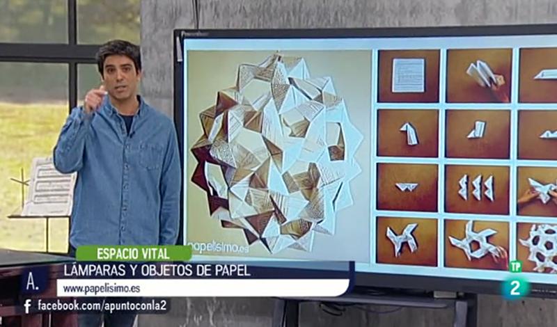 Lampara de papel origami