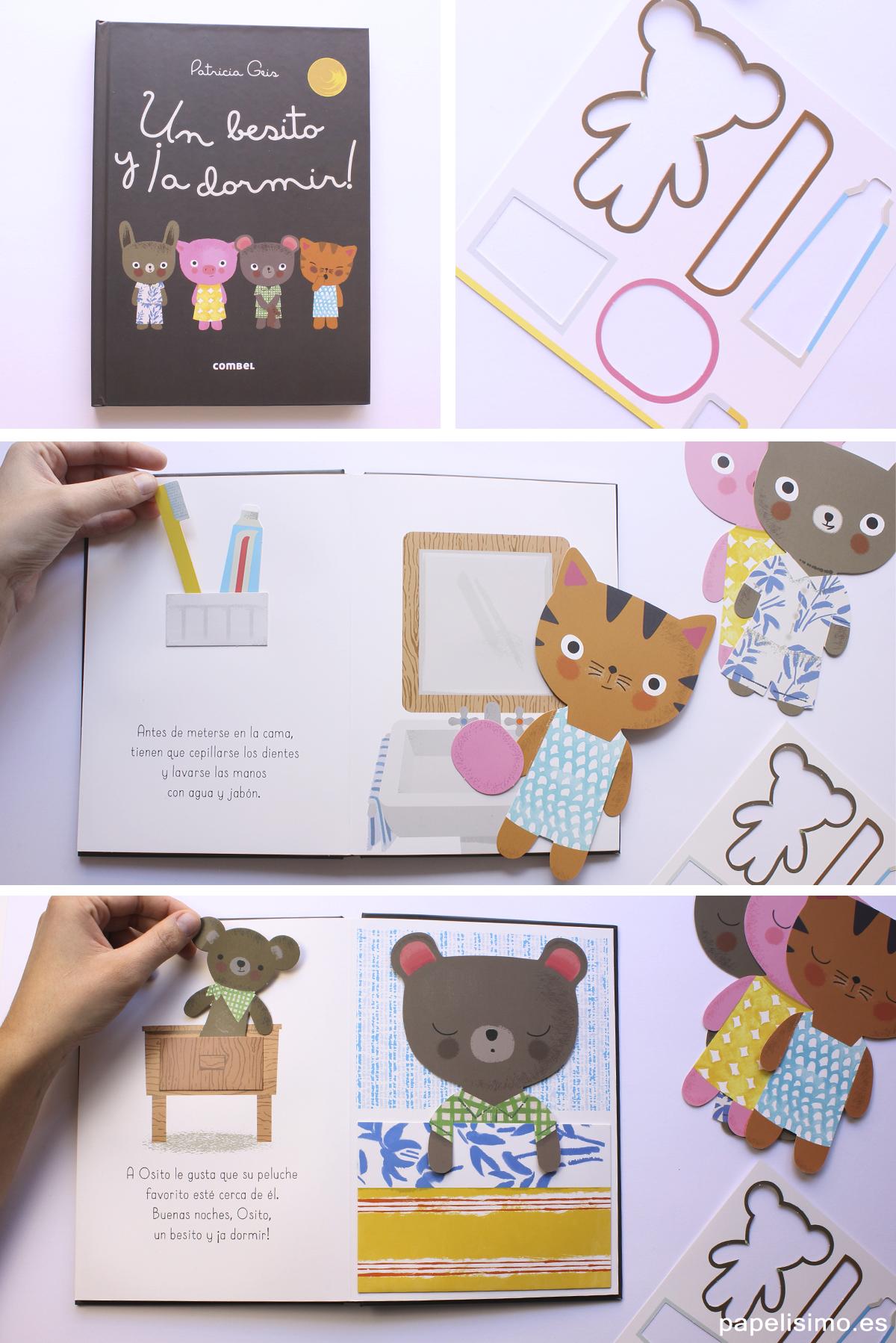 Libros de animales para niños Un besito y a dormir