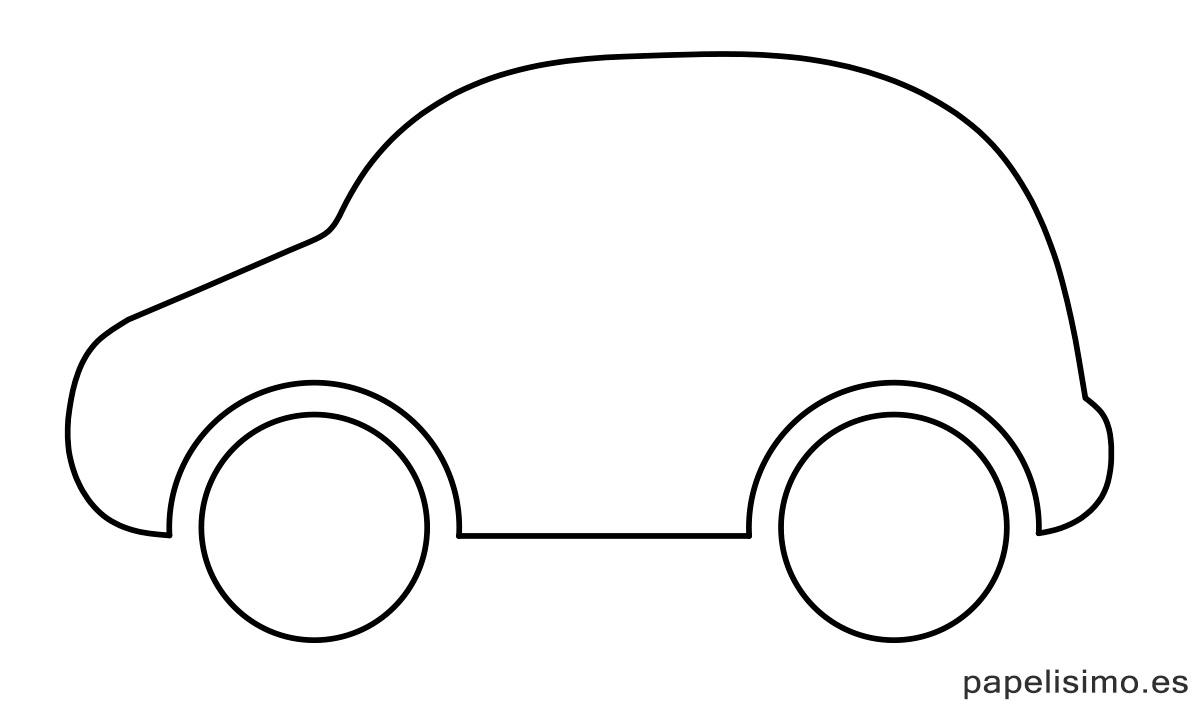Plantilla-silueta-coche-recortar-colorear-recortar